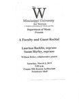 A Faculty and Guest Recital by Laurissa Backlin, Susan Hurley, and William Reber