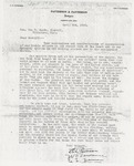 Letter from A.T. Patterson and Joe T. Patterson to Sam H. Smith; April 3, 1930.
