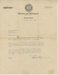 Letter from Thomas E. Pegram to Sam H. Smith; August 28th, 1931