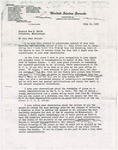 Letter from Theodore Bilbo to Sam H. Smith; July 13, 1935