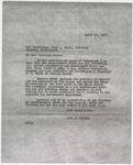 Letter from John H. Culkin to Hugh L. White; April 11, 1936