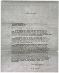 Letter from John H. Culkin to Howard Dyer; April 21, 1936