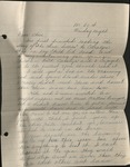 Letter from Martha Smith to Christine Smith; September 25, 1937